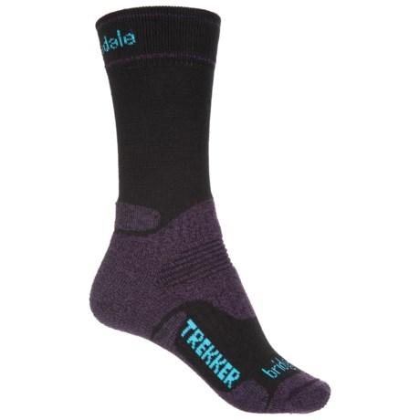 Bridgedale Trekker Hiker Socks - Wool, Midweight (For Women) in Black/Purple