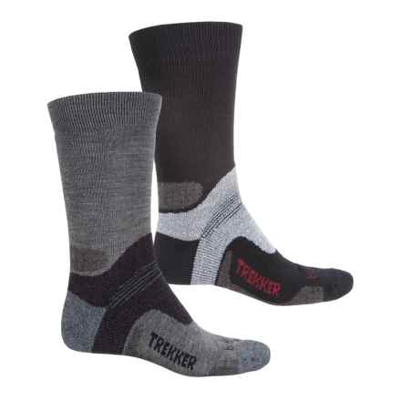 Bridgedale Trekker Limited Edition Hiking Socks - 2-Pack, Crew (For Men) in Black/Grey - Closeouts