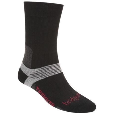 Bridgedale Trekking Socks - New Wool Blend, Midweight (For Men and Women) in Black