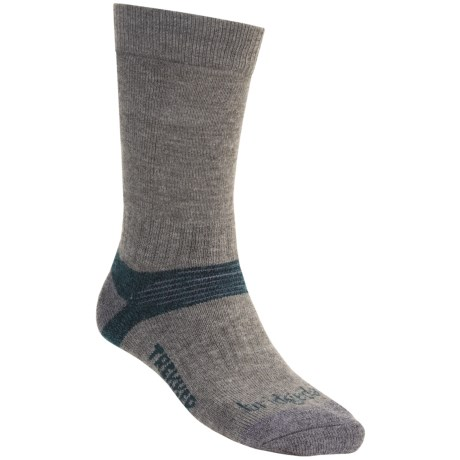 Bridgedale Trekking Socks - New Wool Blend, Midweight (For Men and Women) in Grey/Dark Teal