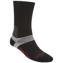 Bridgedale Trekking Socks - New Wool, Mid Calf (For Men and Women) in Black / Charcoal / Grey - 2nds