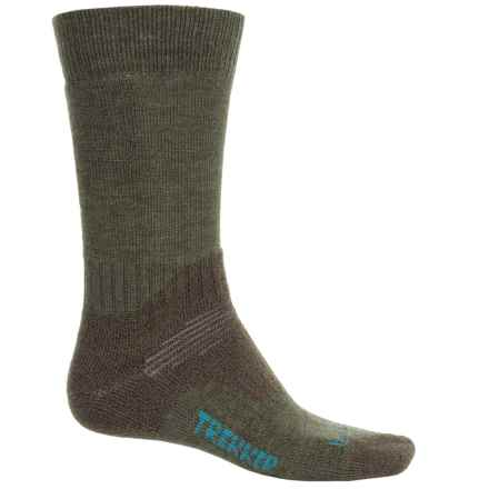 Bridgedale Trekking Socks - New Wool, Mid Calf (For Men and Women) in Dark Green - 2nds