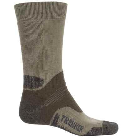 Bridgedale Trekking Socks - New Wool, Mid Calf (For Men and Women) in Green - 2nds