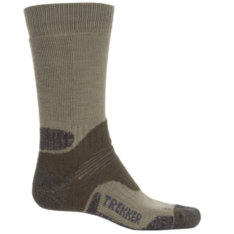 Bridgedale Trekking Socks - New Wool, Mid Calf (For Men and Women) in Green