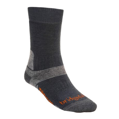 Bridgedale Trekking Socks - New Wool, Mid Calf (For Men and Women) in Gunmetal