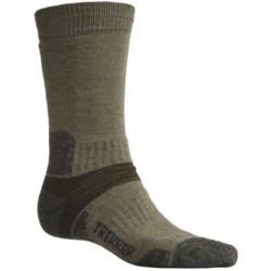 Bridgedale Trekking Socks - New Wool, Mid Calf (For Men and Women) in Olive/Blue Green Marl