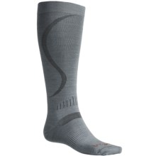 Bridgedale Ultra-Light Ski Socks - Merino Wool (For Men and Women) in Ash - 2nds