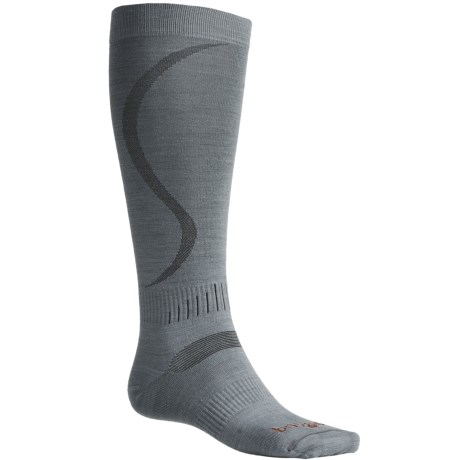 Bridgedale Ultra-Light Ski Socks - Merino Wool (For Men and Women) in Ash