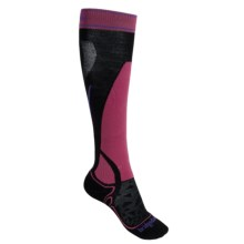 Bridgedale Vertige MerinoFusion Socks - Merino Wool, Midweight, Crew (For Women) in Black/Pink - 2nds