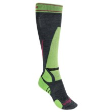 Bridgedale Vertige MerinoFusion Socks - Merino Wool, Over the Calf (For Women) in Gunmetal/Green - 2nds