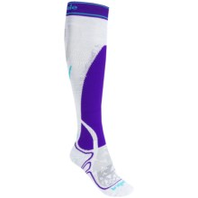 Bridgedale Vertige MerinoFusion Socks - Merino Wool, Over the Calf (For Women) in Silver/Purple - 2nds
