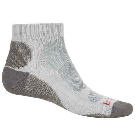Bridgedale Viscose CoolMax® Lo Socks - Ankle (For Men) in Natural/Grey - Closeouts