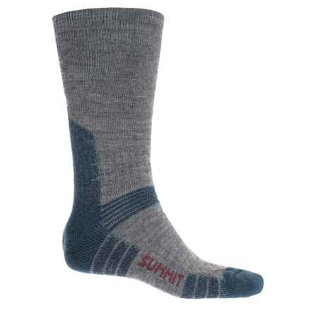Bridgedale WoolFusion® Summit Socks - Crew (For Men) in Grey/Blue - Closeouts