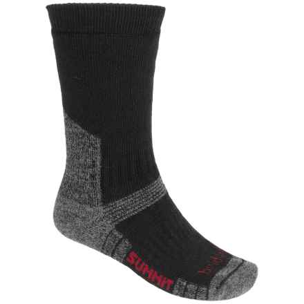 Bridgedale WoolFusion Summit Tactical Boot Socks - Crew (For Men) in Black - 2nds
