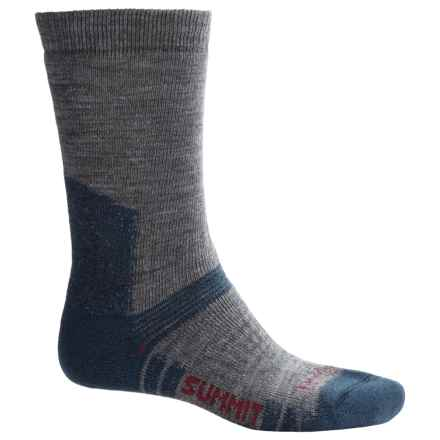 Bridgedale WoolFusion Summit Tactical Boot Socks - Crew (For Men) in Grey/Blue - 2nds