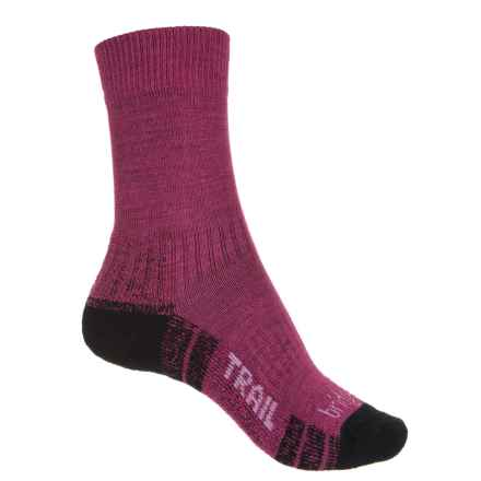 Bridgedale WoolFusion® Trail Hiking Socks - Crew (For Women) in Berry - 2nds
