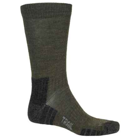 Bridgedale WoolFusion Trail Socks - Crew (For Men) in Dark Green - 2nds