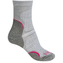Bridgedale WoolFusion Trail Socks - Crew (For Women) in Grey/Berry - 2nds