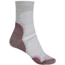 Bridgedale WoolFusion Trail Socks - Crew (For Women) in Grey/Purple - 2nds