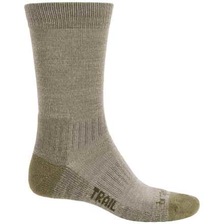 Bridgedale WoolFusion Trail Socks - New Wool, Crew (For Men) in Olive - Closeouts