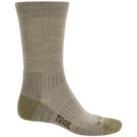 Bridgedale WoolFusion Trail Socks - New Wool, Crew (For Men) in Olive