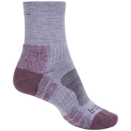 Bridgedale WoolFusion Trail Socks - Wool Blend, Crew (For Women) in Heather/Damson - 2nds