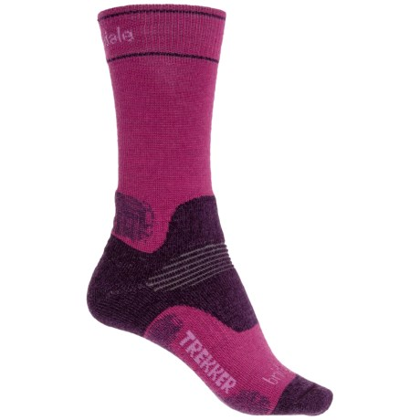 Bridgedale WoolFusion Trekker Boot Socks - Crew (For Women) in Berry/Plum