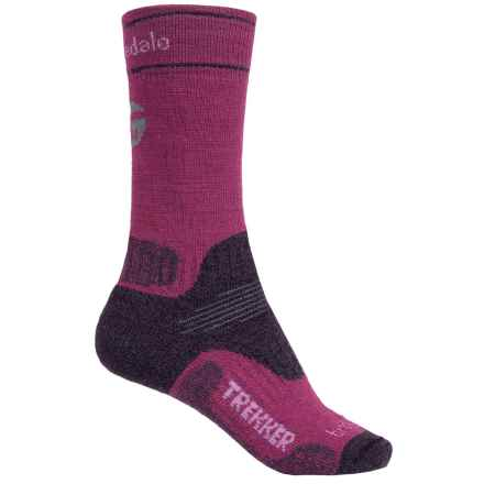 Bridgedale WoolFusion Trekker Boot Socks - Crew (For Women) in Berry - 2nds