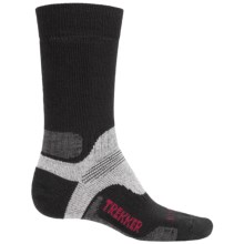Bridgedale WoolFusion Trekker Boot Socks - Mid Calf (For Men) in Black/Grey Heather - 2nds