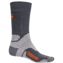 Bridgedale WoolFusion Trekker Boot Socks - Mid Calf (For Men) in Dark Grey/Silver - 2nds