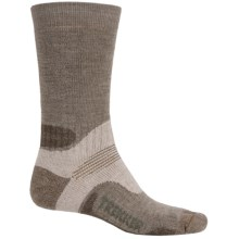 Bridgedale WoolFusion Trekker Boot Socks - Mid Calf (For Men) in Light Brown/Brown - 2nds
