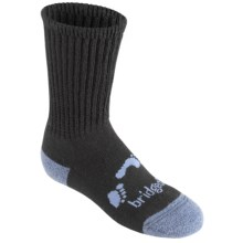 Bridgedale WoolFusion Trekker Junior Socks - New Wool, Crew (For Little and Big Kids) in Black - 2nds