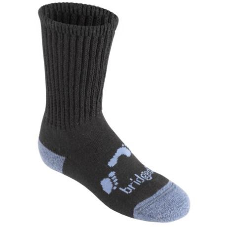 Bridgedale WoolFusion Trekker Junior Socks - New Wool, Crew (For Little and Big Kids) in Black