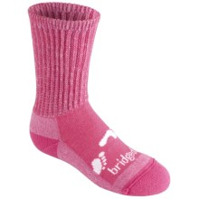 Bridgedale WoolFusion Trekker Junior Socks - New Wool, Crew (For Little and Big Kids) in Pink - 2nds