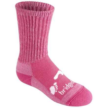 Bridgedale WoolFusion Trekker Junior Socks - New Wool, Crew (For Little and Big Kids) in Pink - 2nds