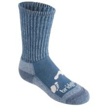Bridgedale WoolFusion Trekker Junior Socks - New Wool, Crew (For Little and Big Kids) in Storm Blue - 2nds