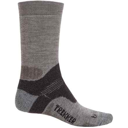 Bridgedale WoolFusion Trekker Tactical Boot Socks - Crew (For Men) in Grey/Dark Grey - 2nds