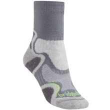 Bridgedale X-Hale Light Hiker Socks (For Women) in Grey/Jade - 2nds