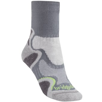 Bridgedale X-Hale Light Hiker Socks (For Women) in Grey/Jade