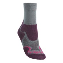 Bridgedale X-Hale Light Hiker Socks (For Women) in Grey/Plum - 2nds