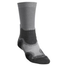 Bridgedale X-Hale Light Hiker Socks- Merino Wool, Crew (For Men) in Grey/Charcoal - 2nds