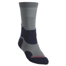 Bridgedale X-Hale Light Hiker Socks- Merino Wool, Crew (For Men) in Grey/Navy - 2nds
