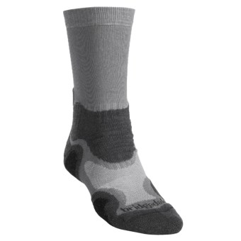 Bridgedale X-Hale Light Hiker Socks- Merino Wool (For Men) in Grey/Charcoal