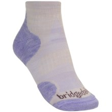 Bridgedale X-Hale Multi Sport Socks - Merino Wool, Ankle (For Women) in Latte/Lilac - 2nds