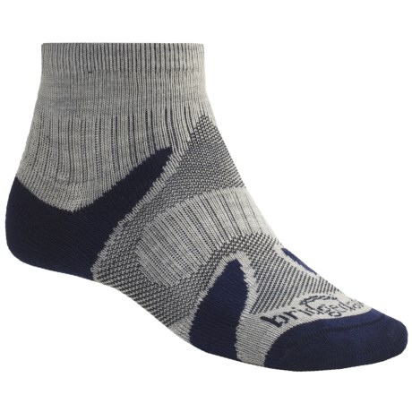 Bridgedale X-Hale Socks (For Men and Women) in Silver/Sapphire