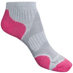 Bridgedale X-Hale Socks - Lightweight (For Women) in Mist Grey / Dark Pink