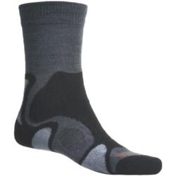 Bridgedale X-Hale Trailblaze Socks - Merino Wool, Crew (For Men) in Black/Charcoal/Grey