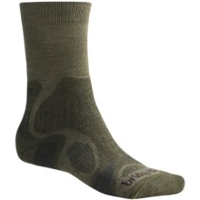 Bridgedale X-Hale Trailblaze Socks - Merino Wool, Crew (For Men) in Dark Sage - 2nds