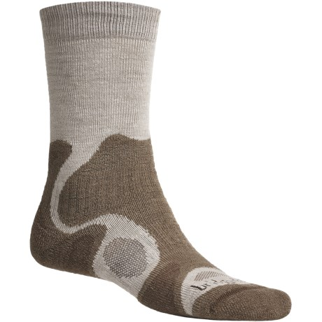 Bridgedale X-Hale Trailblaze Socks - Merino Wool, Crew (For Men) in Natural/Brown