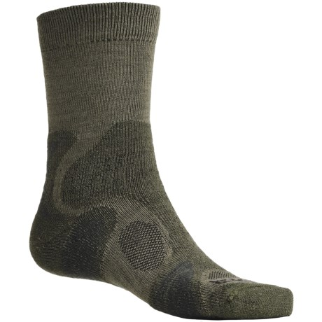 Bridgedale X-Hale Trailblaze Socks - Merino Wool, Crew (For Men) in Dark Sage